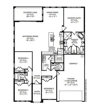 Arden Floor Plan | ICI Homes| The Island at Twenty Mile | Nocatee
