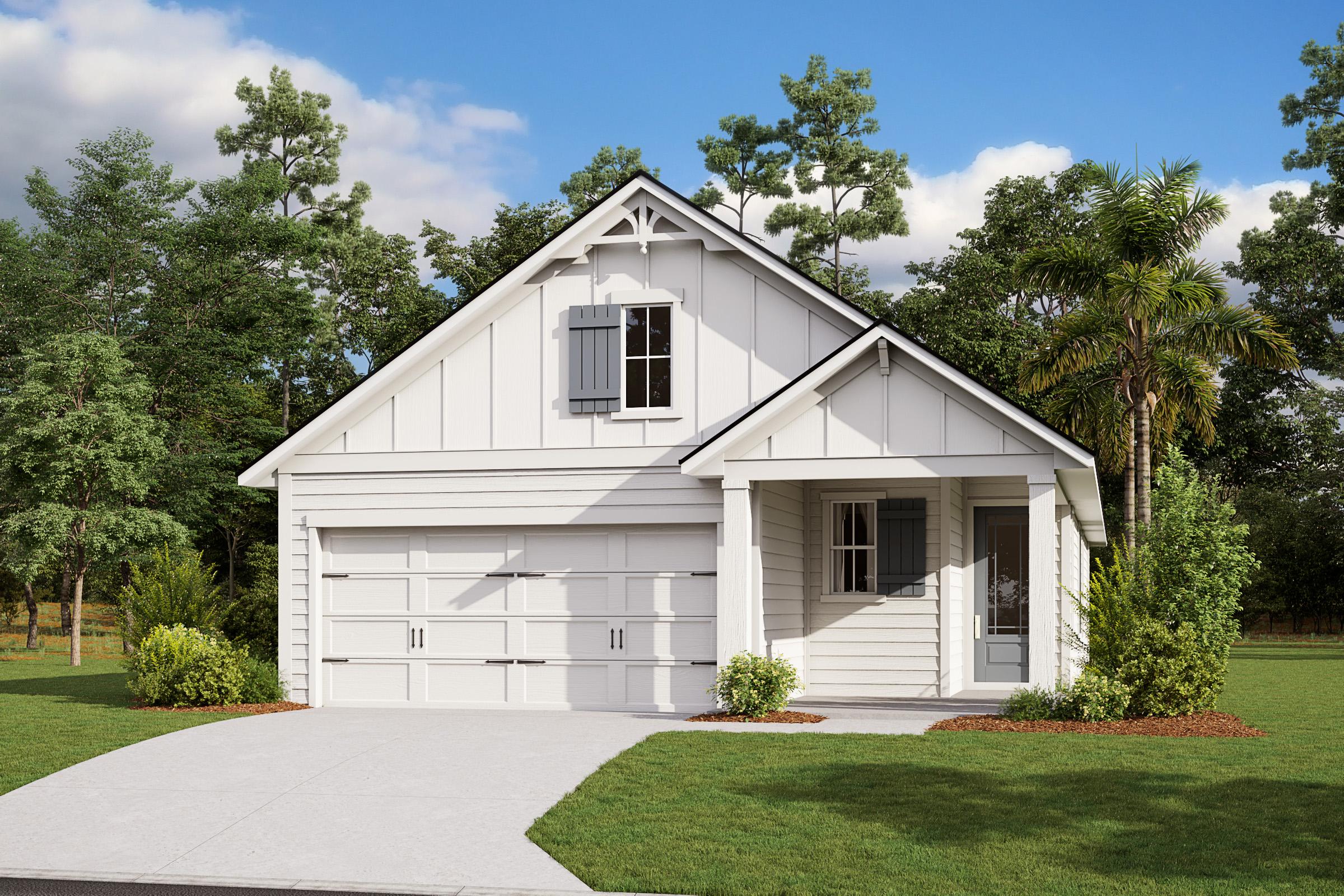 Apopka-Florida Farmhouse-Elevation