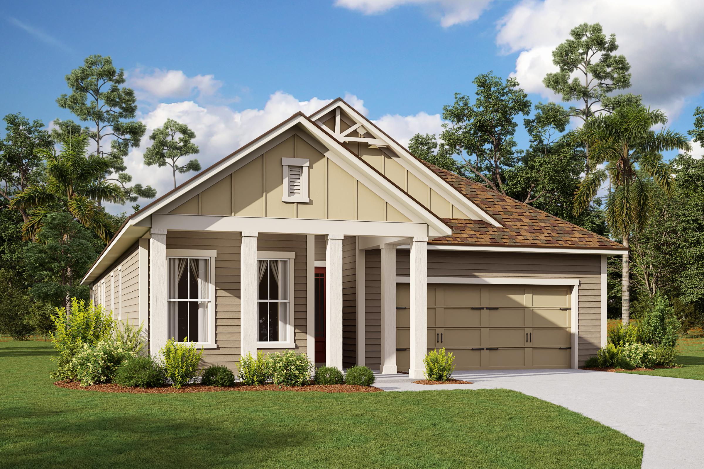 Ginnie-Florida Farmhouse-Elevation