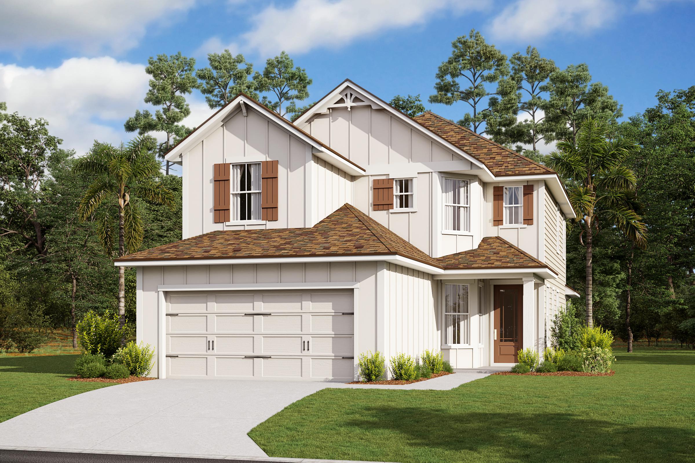 Juniper-Florida Farmhouse-Elevation