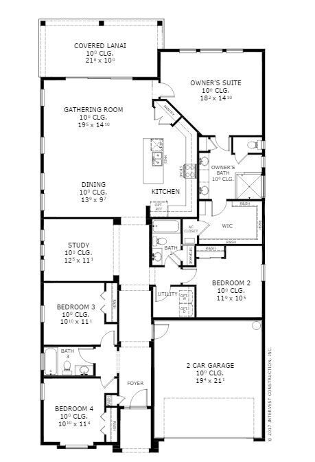 Serena floor plan ici homes the island at twenty mile for Ici floor plans